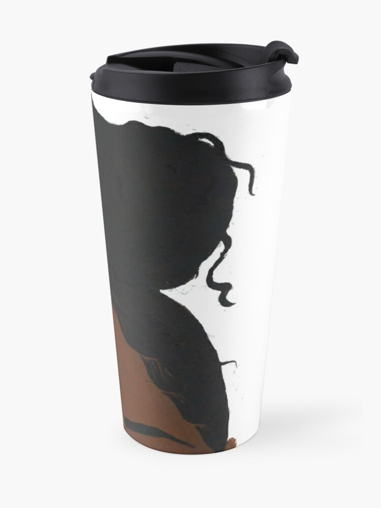 Alternate view of Black girl headshot Travel Mug