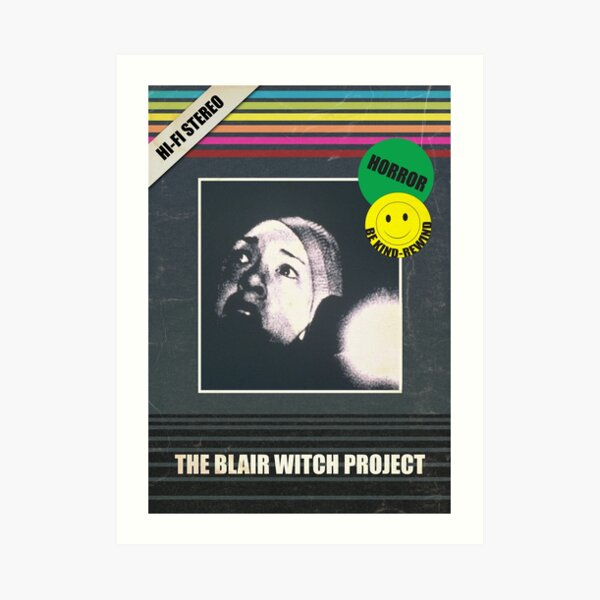 Blair Witch Project VHS Horror Movie Poster Art Print