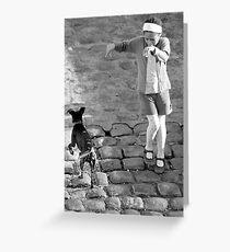 Paris - Wet Dog Greeting Card