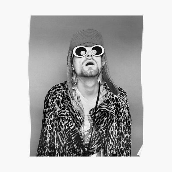 Kurtcobain sunglasses hat Poster