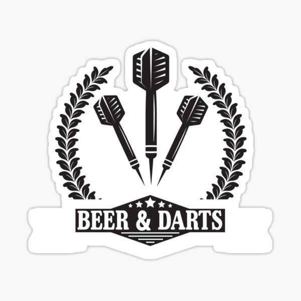Bière et fléchettes Sticker