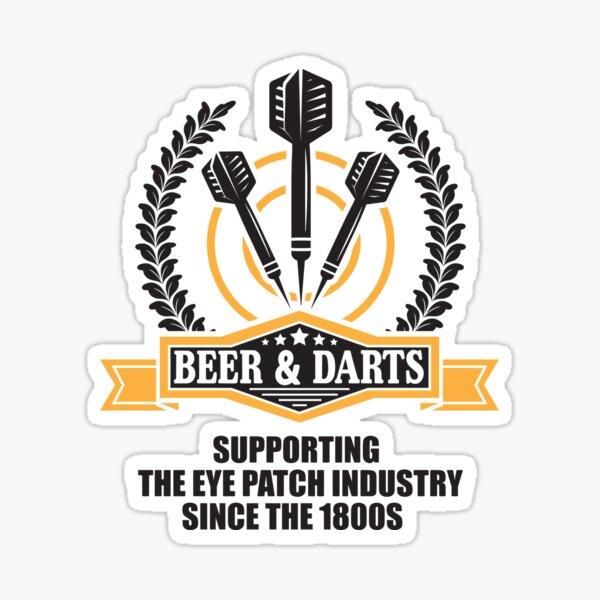Beer & Darts soutient l'industrie de l'eye-patch depuis les années 1980 Sticker
