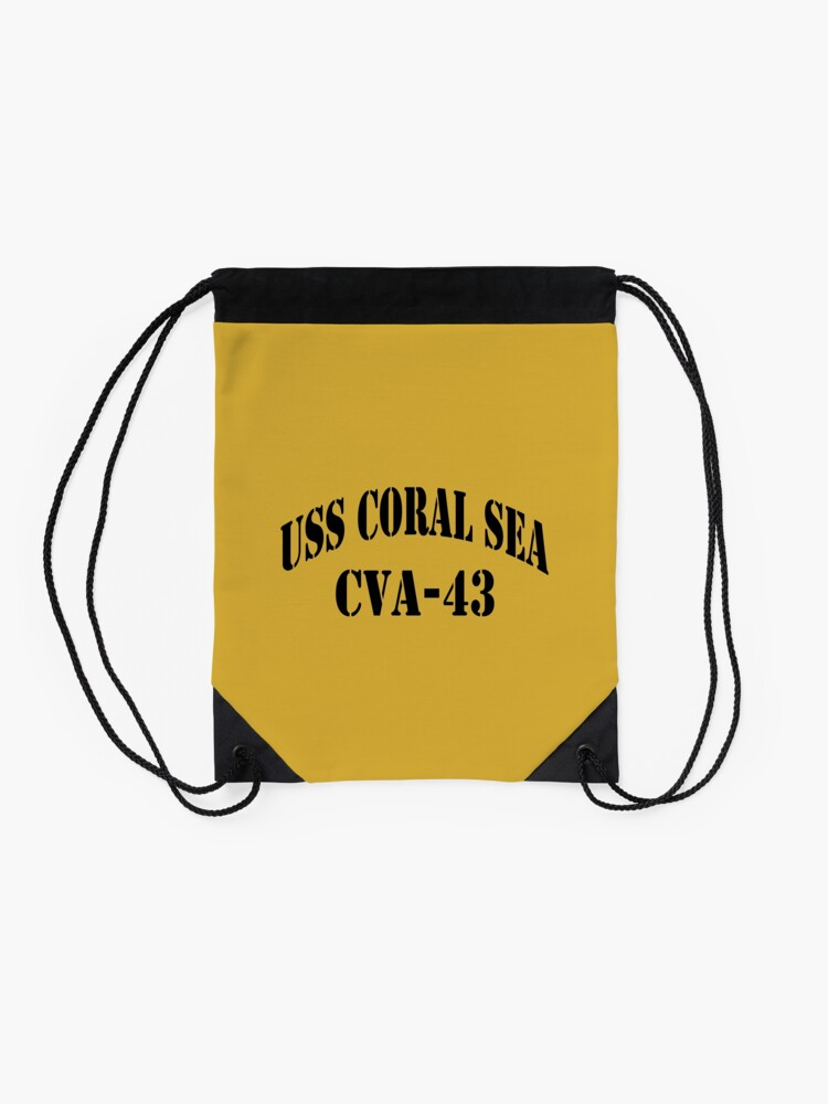 Alternate view of USS CORAL SEA (CVA-43) SHIP'S STORE Drawstring Bag
