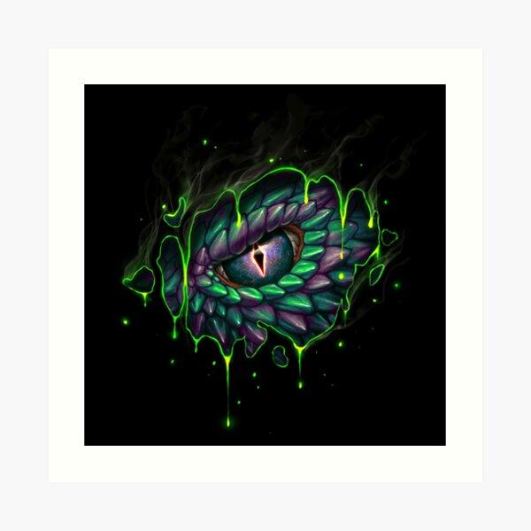 Dragon Eye Acid Art Print