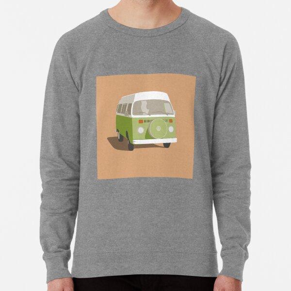 Campervan bright green Lightweight Sweatshirt