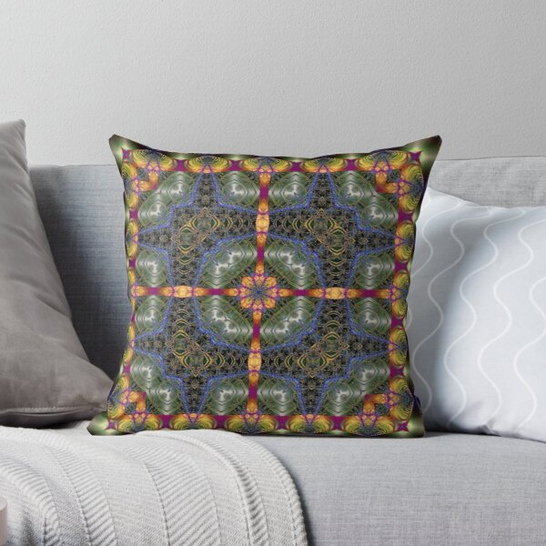 Fractal Interlink No1 Throw Pillow