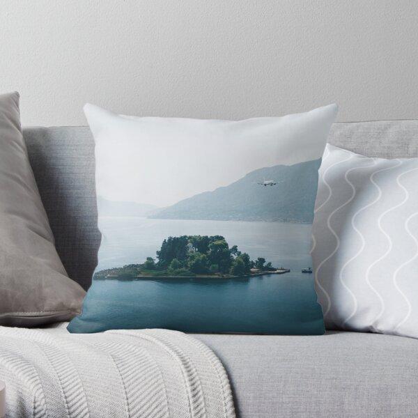 Pontikonisi Island - Greece Throw Pillow