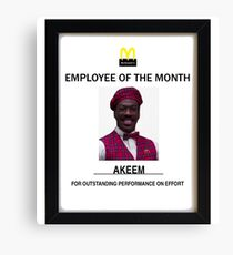Employee of the month Canvas Print