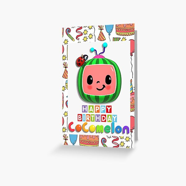 Happy Birthday From CocoMelon Family Greetings Card Greeting Card