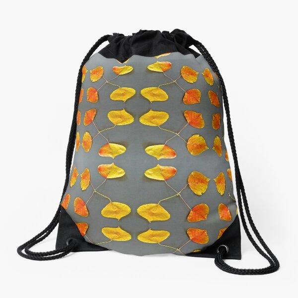 Autumn Leaves Circle Drawstring Bag