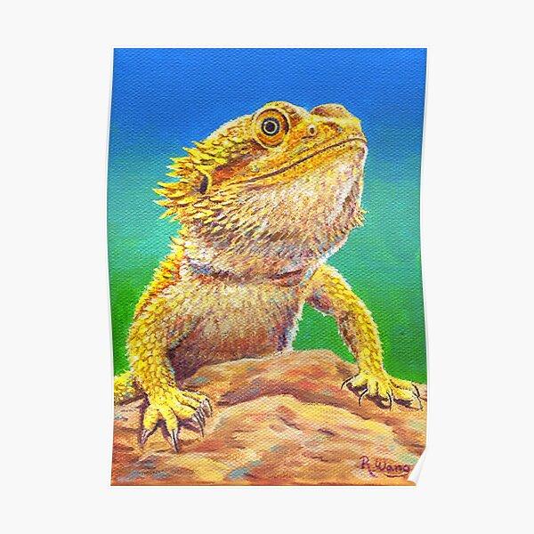 Bearded Dragon Lizard Portrait Poster