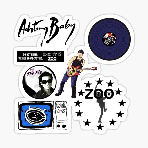 Achtung Baby (Sticker Pack) Sticker