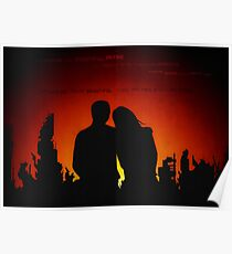 The skyline was beautiful on fire Poster