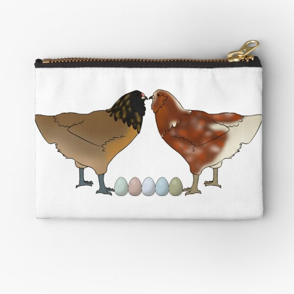 Easter Eggers and Egg Rainbow Zipper Pouch