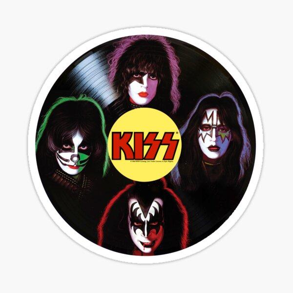 Kiss The Band Vinyl Record Sticker