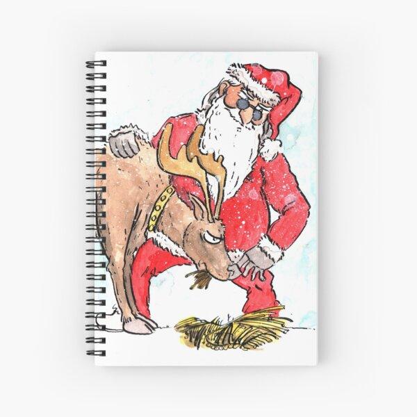 Feeding the Reindeer Spiral Notebook