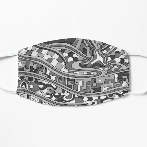 Wandering Abstract Line Art 03: Grayscale Mask