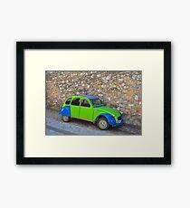 Vintage car, old road, new colors! Framed Print