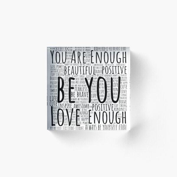 Motivational Word Art Acrylic Block