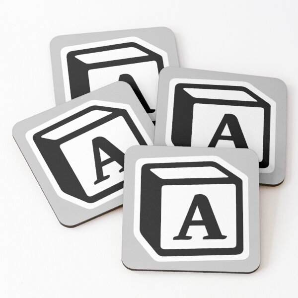 """Letter """"A"""" Block Personalised Monogram Coasters (Set of 4)"""