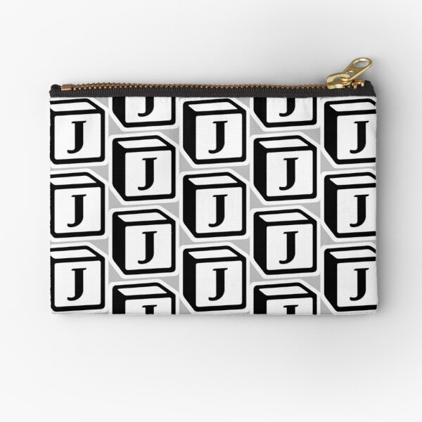 "Letter ""J"" Block Personalised Monogram Zipper Pouch"