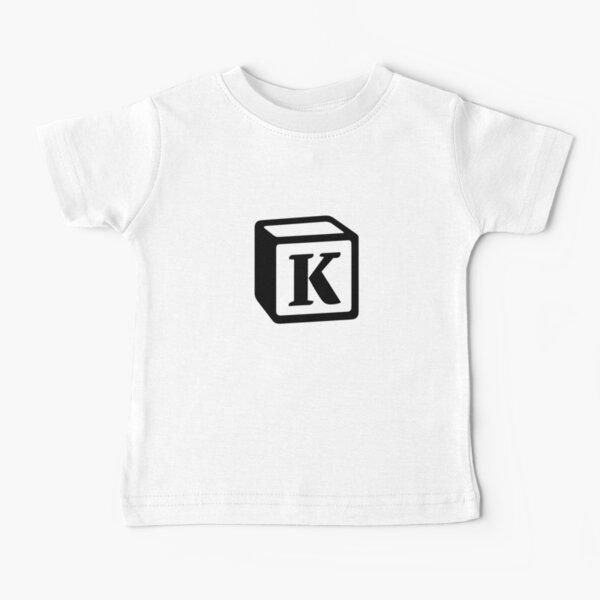 "Letter ""K"" Block Personalised Monogram Baby T-Shirt"