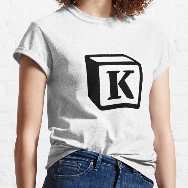"Letter ""K"" Block Personalised Monogram Classic T-Shirt"