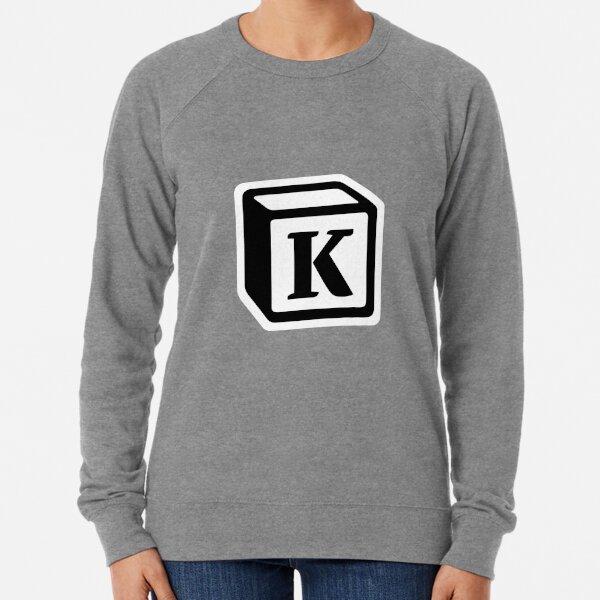 "Letter ""K"" Block Personalised Monogram Lightweight Sweatshirt"