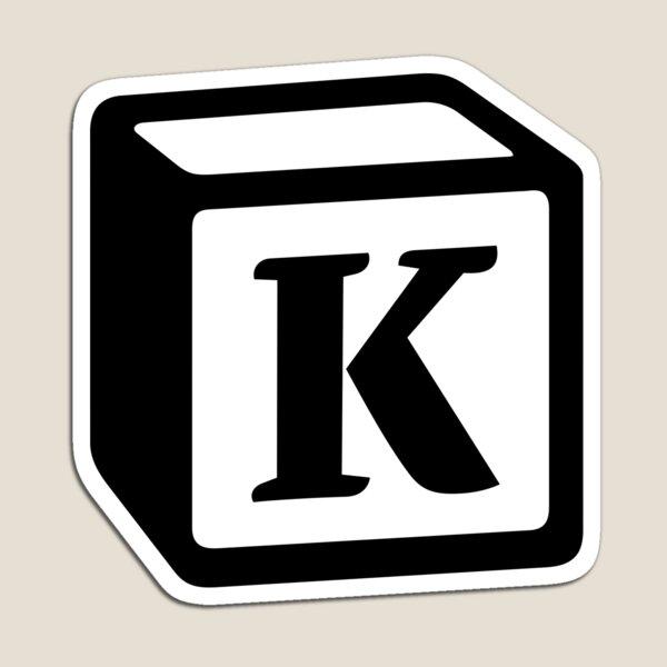"Letter ""K"" Block Personalised Monogram Magnet"