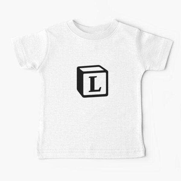 "Letter ""L"" Block Personalised Monogram Baby T-Shirt"