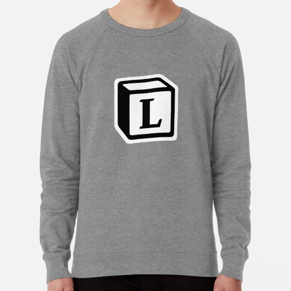 "Letter ""L"" Block Personalised Monogram Lightweight Sweatshirt"
