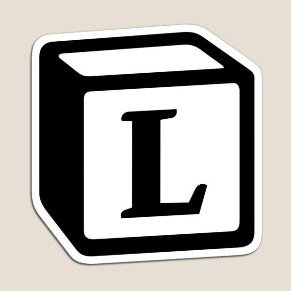 "Letter ""L"" Block Personalised Monogram Magnet"