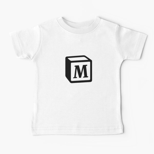 "Letter ""M"" Block Personalised Monogram Baby T-Shirt"