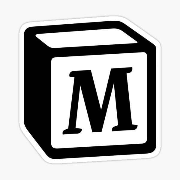 "Letter ""M"" Block Personalised Monogram Sticker"