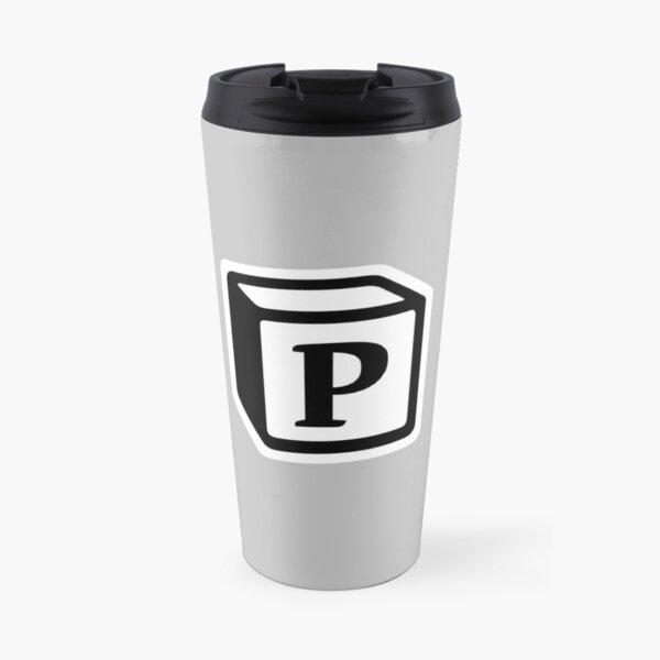 "Letter ""P"" Block Personalised Monogram Travel Mug"