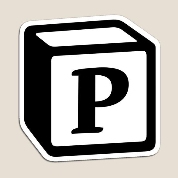 "Letter ""P"" Block Personalised Monogram Magnet"