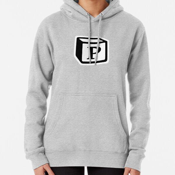 """Letter """"P"""" Block Personalised Monogram Pullover Hoodie"""