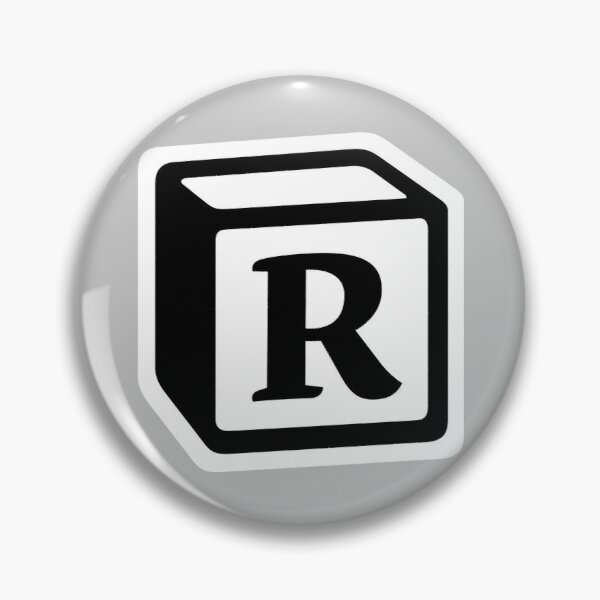 "Letter ""R"" Block Personalised Monogram Pin"
