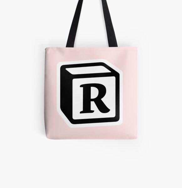 "Letter ""R"" Block Personalised Monogram All Over Print Tote Bag"