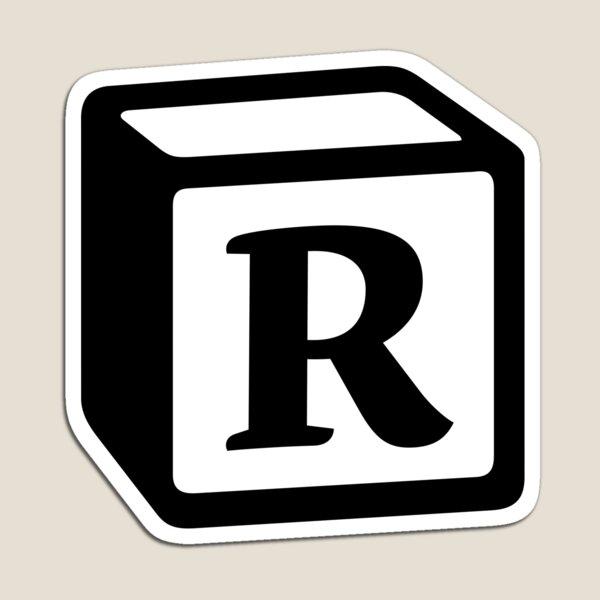 "Letter ""R"" Block Personalised Monogram Magnet"