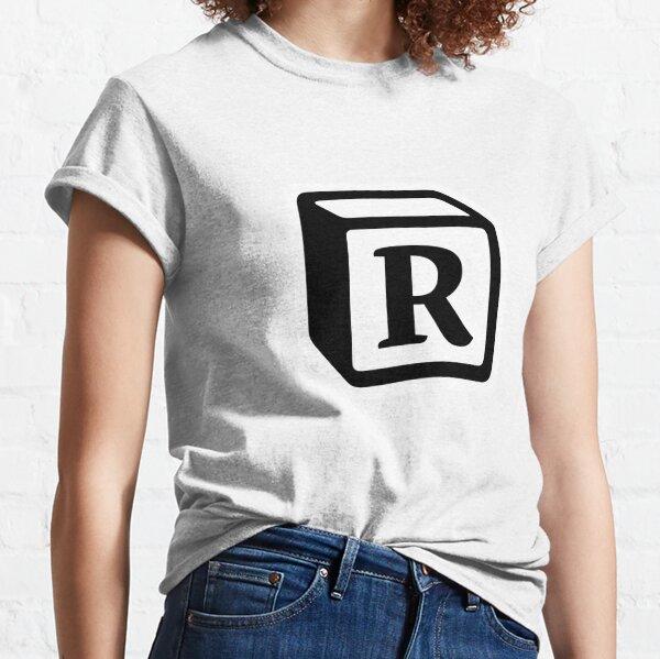 "Letter ""R"" Block Personalised Monogram Classic T-Shirt"