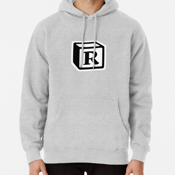 """Letter """"R"""" Block Personalised Monogram Pullover Hoodie"""