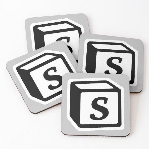"Letter ""S"" Block Personalised Monogram Coasters (Set of 4)"