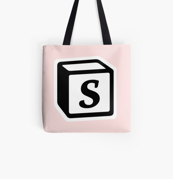 "Letter ""S"" Block Personalised Monogram All Over Print Tote Bag"