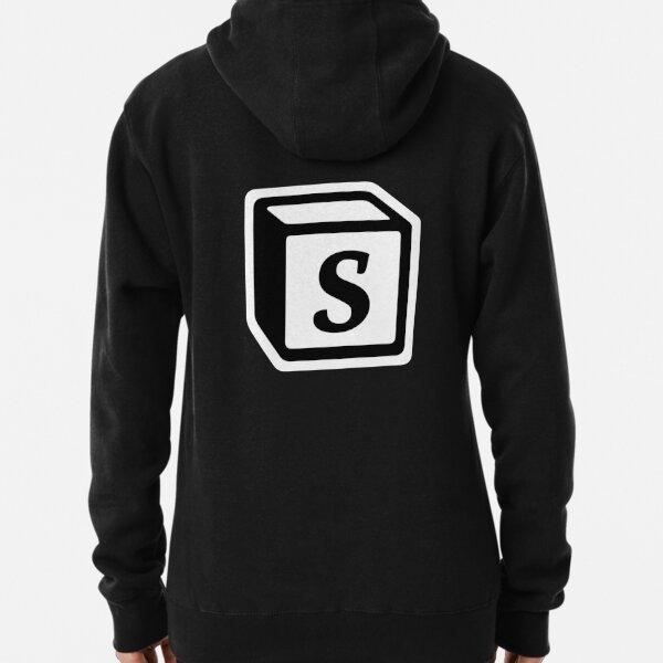 """Letter """"S"""" Block Personalised Monogram Pullover Hoodie"""