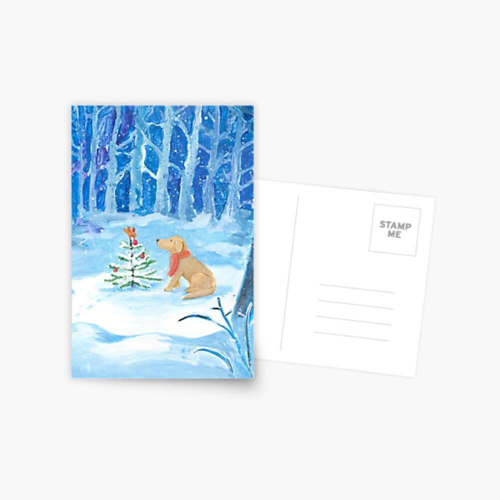 Dog winter magic Postcard