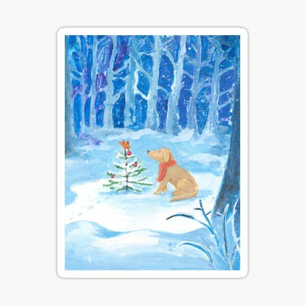 Dog winter magic Sticker