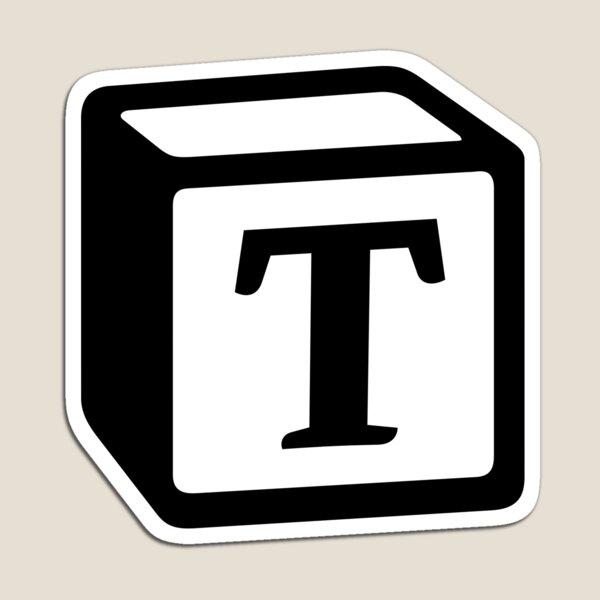 "Letter ""T"" Block Personalised Monogram Magnet"