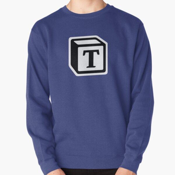"Letter ""T"" Block Personalised Monogram Pullover Sweatshirt"