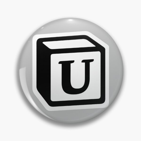 "Letter ""U"" Block Personalised Monogram Pin"